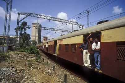Local train ,  Mumbai ,  Maharashtra ,  India