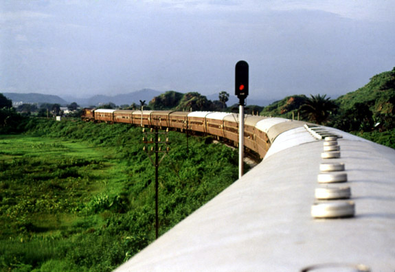Top view of a train, India