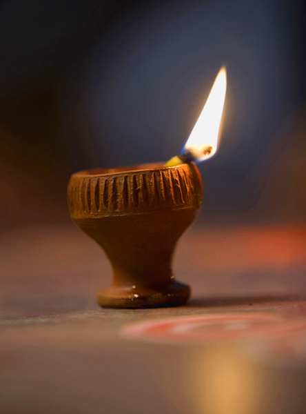 Diya  , it is mostly used in Diwali festival for light,India