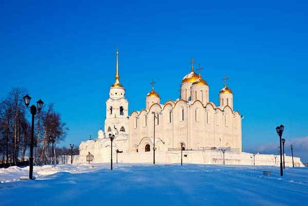 Uspenskiy cathedral at Vladimir in winter, Russia. Constructed between 1158?1160