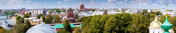 panoramic view of old district of Yaroslavl. Russia