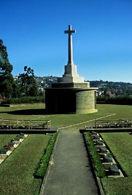War cemetery in Kohima  ,  Nagaland  ,  India