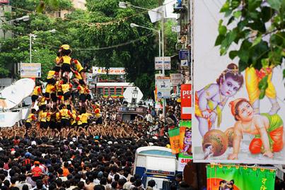 Govinda Festival, Dadar, Mumbai, Maharashtra, India