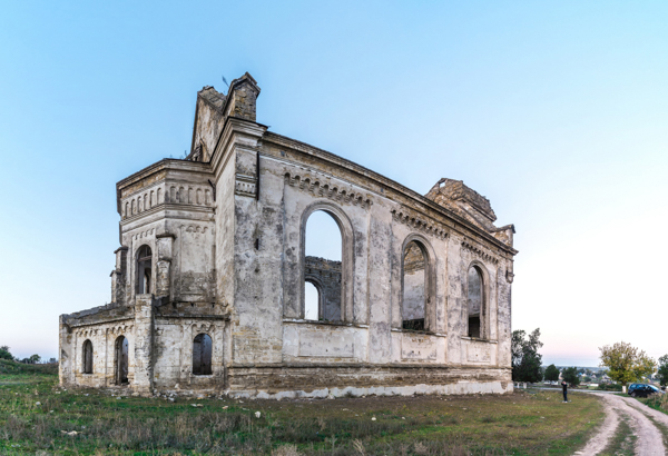 Abandoned Catholic church in Ukraine