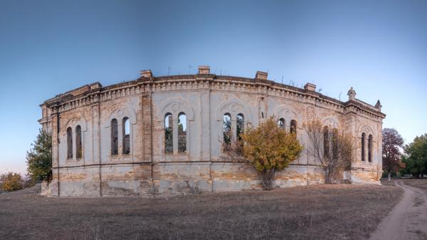Abandoned Catholic Cathedral of the Most Holy Trinity in the village of Limanskoye, Odessa region, Ukraine